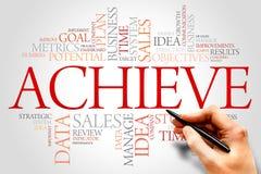 Achieve. Word cloud, business concept Stock Photo