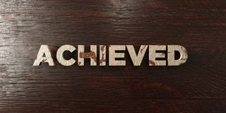 Achieved - grungy wooden headline on Maple  - 3D rendered royalty free stock image Royalty Free Stock Images