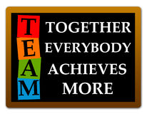 Achievement. Achieving more when everybody works together stock illustration