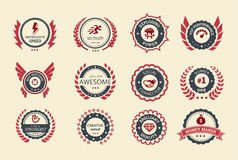 Free Achievement Badges Royalty Free Stock Image - 34907926