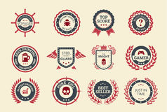 Achievement Badges. For games or applications. Two shades of color Stock Image