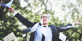 Achievement Business Carefree Celebration Successful Concept Royalty Free Stock Photography