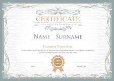 Achievement certificate flourishes vintage vector template Royalty Free Stock Photography