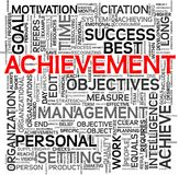 Achievement concept in tag cloud Stock Photography