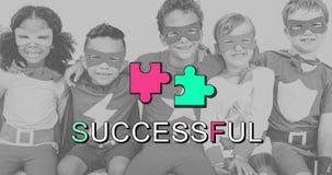 Achievement Connection Cooperation Graphic Concept Stock Image
