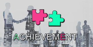 Achievement Connection Cooperation Graphic Concept Royalty Free Stock Photography