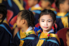 Achievement of degree for young babay Stock Image
