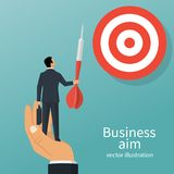 Achievement of goal vector Royalty Free Stock Photography