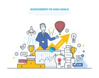 Achievement high goals. Financial and career growth, success in business. Achievement of high goals. Financial and career growth, success in business Stock Images