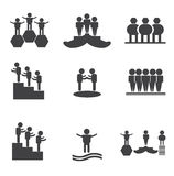 Achievement icon. Trophy, victory, white, win, winner,achievement icon Stock Images