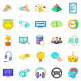 Achievement icons set, cartoon style. Achievement icons set. Cartoon set of 25 achievement vector icons for web isolated on white background Royalty Free Stock Image