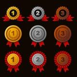 Achievement icons set Stock Images