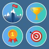 Achievement icons set Stock Photo