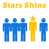 Achievement illustration Stock Images