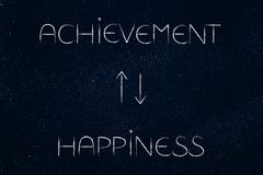 Achievement leading to happiness and repeat Stock Photos