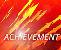 Achievement management success Stock Image
