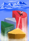Achievement. Manager career reached its maximum height in the sector royalty free illustration