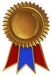 Achievement medal with ribbon. 3d illustration Stock Images