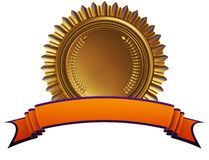 Achievement medal with ribbon. 3d illustration Stock Photo