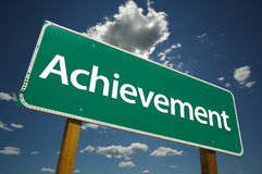 Achievement Road Sign  Stock Photos