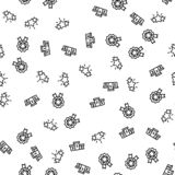 Achievement Of Sportsman Seamless Pattern Vector stock illustration