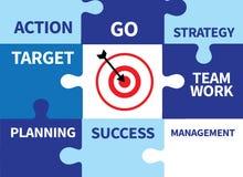 Achievement Success Goals and success and team work  Jigsaw Puzz Stock Photos