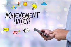 Achievement Success Goals and success and team work  Jigsaw Puzz Royalty Free Stock Photo