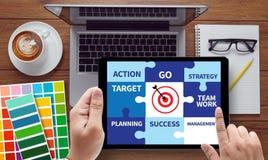Achievement Success Goals and success and team work  Jigsaw Puzz Stock Photo