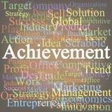 Achievement. Tag cloud Stock Photos