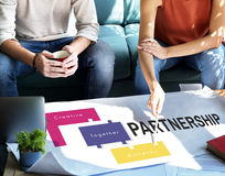 Achievement Teamwork Creative Together Collaboration Graphic Con Stock Images