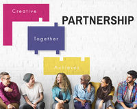 Achievement Teamwork Creative Together Collaboration Graphic Con Royalty Free Stock Photos