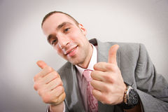 Achievement - thumbs up Stock Image