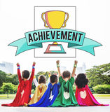 Achievement Trophy Cup Success Graphic Concept stock photography