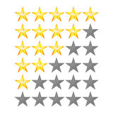Achievement Vector Stars. For Game And Review Rating. Like Symbol, Succes Sign, Classify Concept, Realistic Element Royalty Free Stock Image