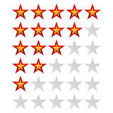 Achievement Vector Stars. For Game And Review Rating. Like Symbol, Succes Sign, Classify Concept, Realistic Element Stock Image