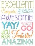 Achievement Word Art Stock Photo