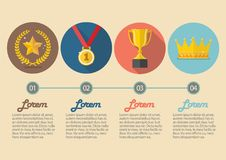 Achievements icon concept infographic Stock Photography
