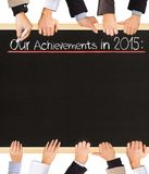 Achievements list Royalty Free Stock Photos