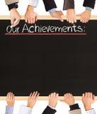 Achievements list Royalty Free Stock Photos