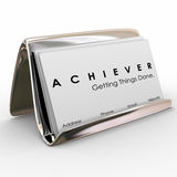 Achiever Getting Things Done Business Card Holder Royalty Free Stock Photo