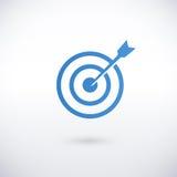 Achieving goal logo design template Stock Images