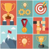 Achieving goal success concept Royalty Free Stock Images