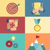 Achieving goal, success concept vector Stock Photography