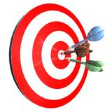 Achieving goals abstract concept with darts isolated illustration and arrows in center achieving goals abstract concept with darts Royalty Free Stock Photography