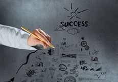 Achieving success Royalty Free Stock Photos