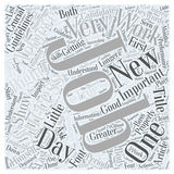 Achieving Success in New Jobs word cloud concept. Background Stock Illustration