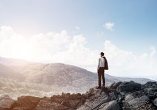 Achieving top of success Royalty Free Stock Photo