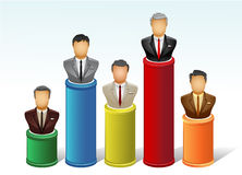 Achievment chart. A  illustration of chart of businessman achievment Royalty Free Stock Images