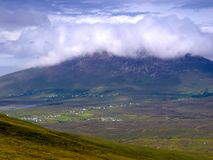 Achill. View of mist covered mountain, Achill Island, Co.Mayo, Ireland Royalty Free Stock Images