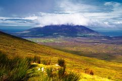 Achill. Summer view of Achill Island, Co.Mayo, Ireland showing mountains, hill and valleys Royalty Free Stock Image